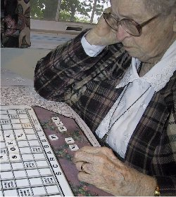 Scrabble with Roberta